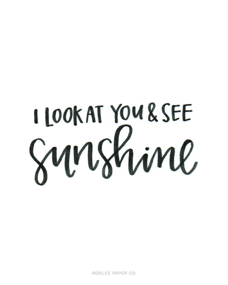 I Look At You & See Sunshine | ROOLEE