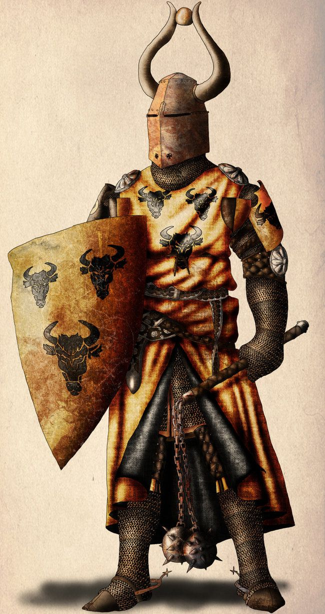 Knight with twin flail