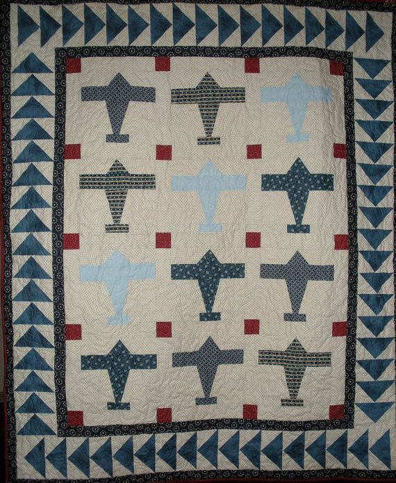 Airplane Quilt Pattern by onebeelane on Etsy, $9.00