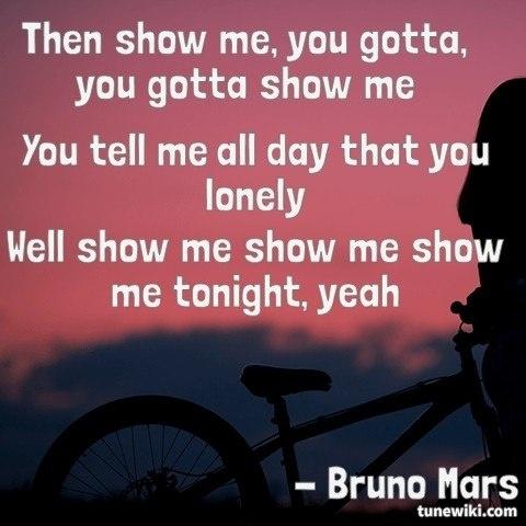 Show Me by Bruno Mars #lyrics