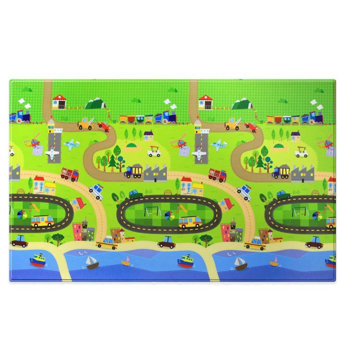 Baby Care Large Baby Play Mat In Happy Village Bed Bath
