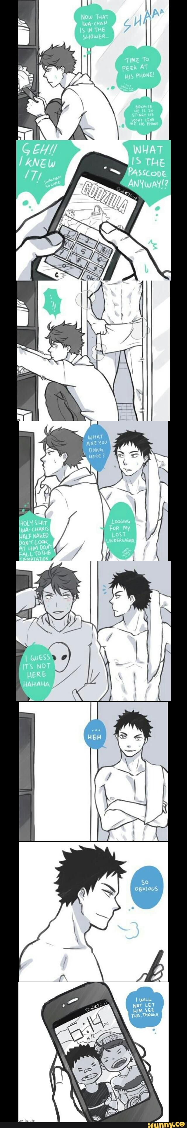 OMG they're so good for each other // IwaOi