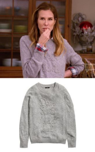 "Carole Radziwill's ""Dear Santa I Want It All"" Sweater http://www.bigblondehair.com/real-housewives/carole-radziwills-dear-santa-want-sweater/ Season 8 Episode 10 of The REal Housewives of New York Fashion"