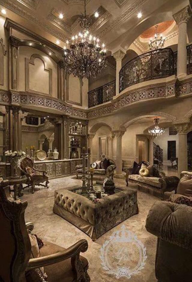 Grand Living Room Residential Interior Design Luxury Homes House
