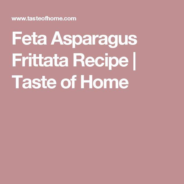 Feta Asparagus Frittata Recipe | Taste of Home