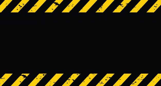 Black And Yellow Line Striped Under Construction Grunge Background Construction Theme Party Certificate Design Template Tumblr Yellow