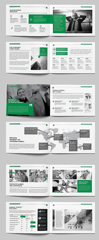 A5 Landscape Company Brochure Corporate Brochure Design Company