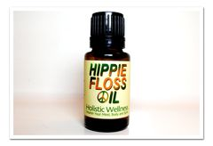 Hippie Floss Oil- Reinvigorate your teeth and gums with potent essential oils. Antibacterial, antiviral and antifungal oils help to kill bacteria and germs right along the gum line.