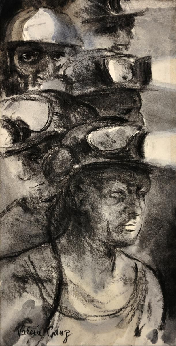 Returning from the face, by Welsh artist Valerie Ganz