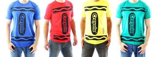 Crayola Crayon Adult Costume T-shirt $12.99 #bestseller