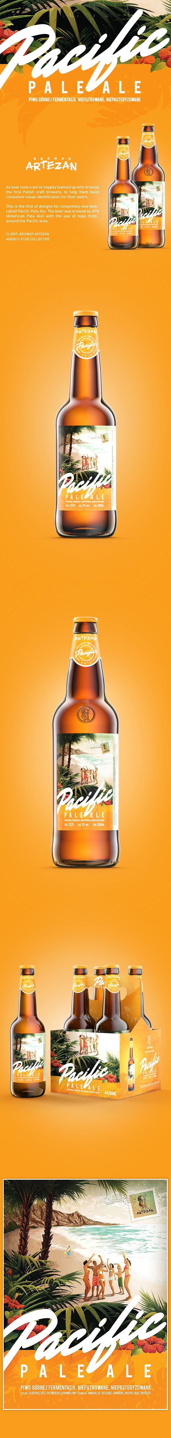 Pacific  Pale Ale by Fuse Collective , via Behance