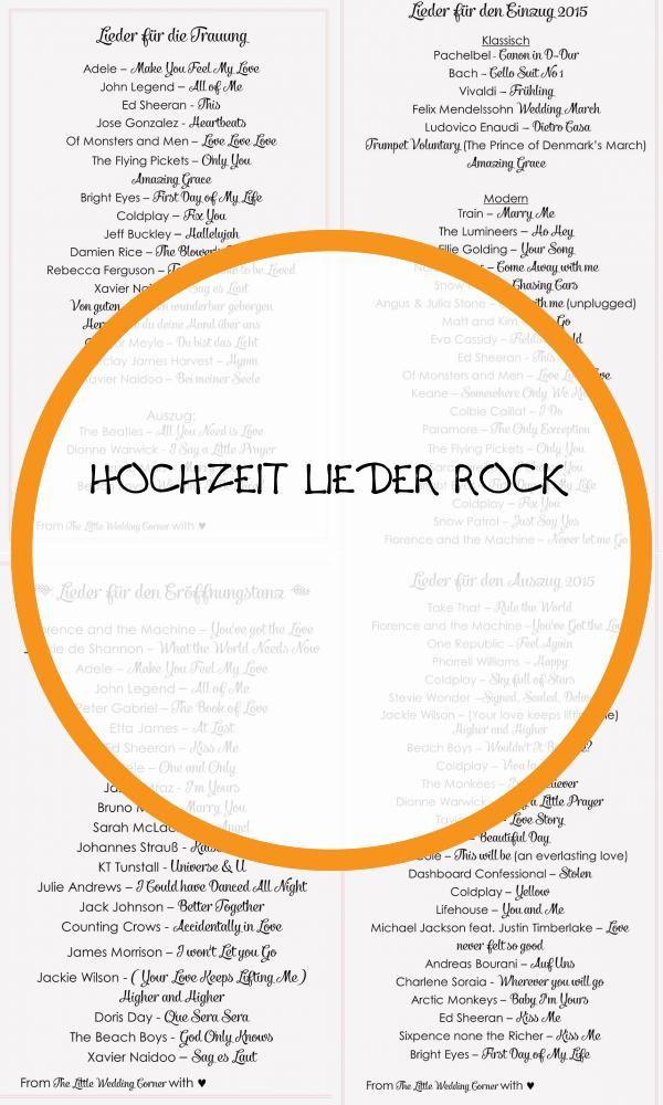 Best 17 Hochzeit Lieder Rock Lieder Hochzeit Hochzeitslieder Lieder