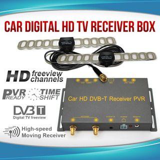 HD Mobile Digital TV DVB-T Receiver Box Tuner DUAL ANTENNA for Car,Caravan,Boats