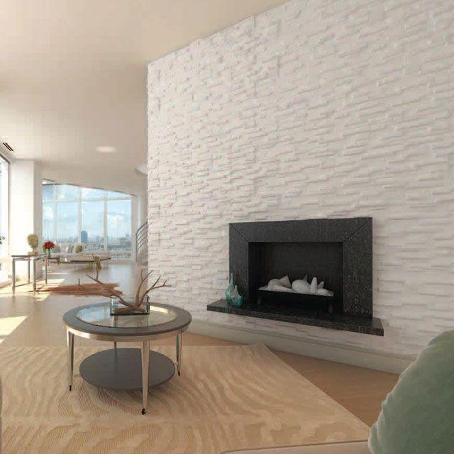 M s de 10 ideas incre bles sobre plaquette parement en for Mur pierre blanche interieur