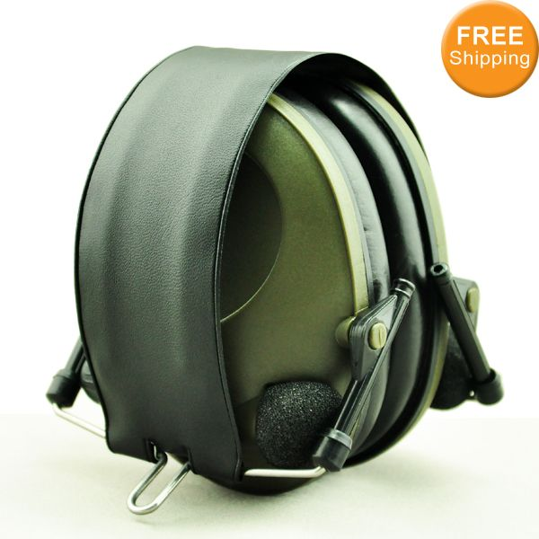 Anti-noise Olahraga berburu Shooting Elektronik Earmuff Telinga Perlindungan Taktis Pelindung Pendengaran Penutup Telinga headphone gratis pengiriman