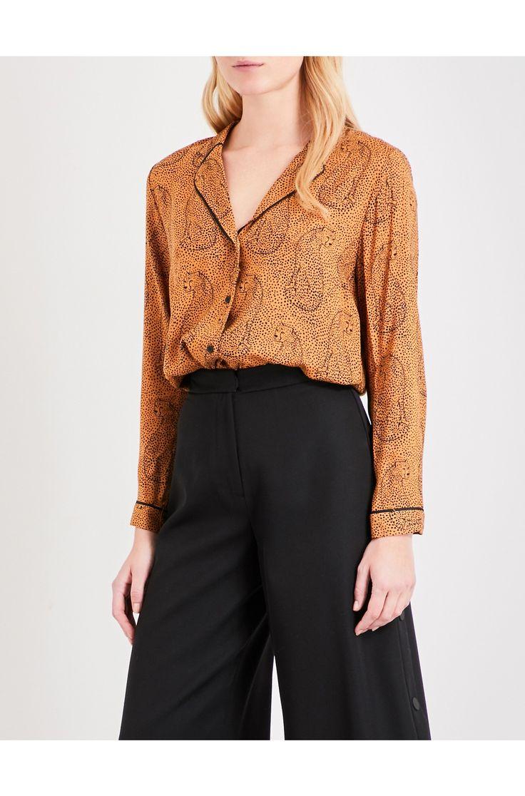 TOPSHOP - Unique hidden leopard pyjama shirt | Selfridges.com