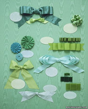 Beautiful in their own right, lustrous ribbons are at the foundation of each of these bows. When choosing a ribbon, consider how you want the bow to look. Stiff or wired ribbon creates bows with perky loops that hold their shape; soft fabrics are great for bows that lie flat or bend gracefully. Here are some ideal pairings, with proportions -- of loops to tails, for example -- that feel just right.SashThis tailored multilayered bow with loops takes its inspiration from the feminine…