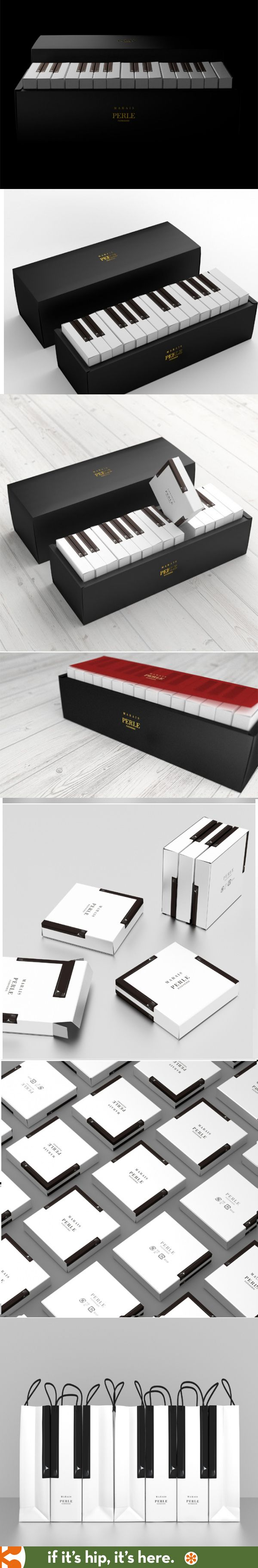 "Latona Marketing designed this ""Piano Package"" containing baked goods from…"