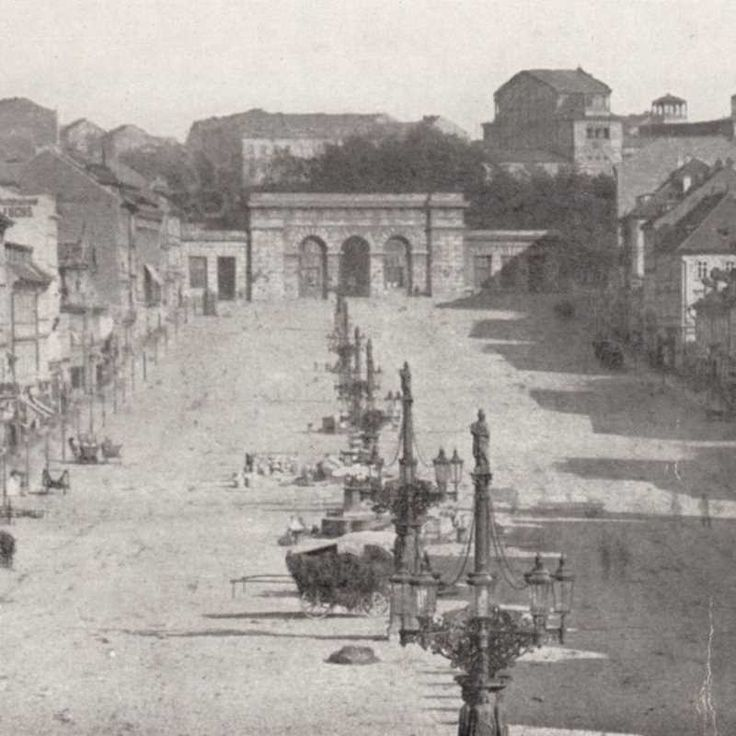 Koňská brána na konci Václavského náměstí