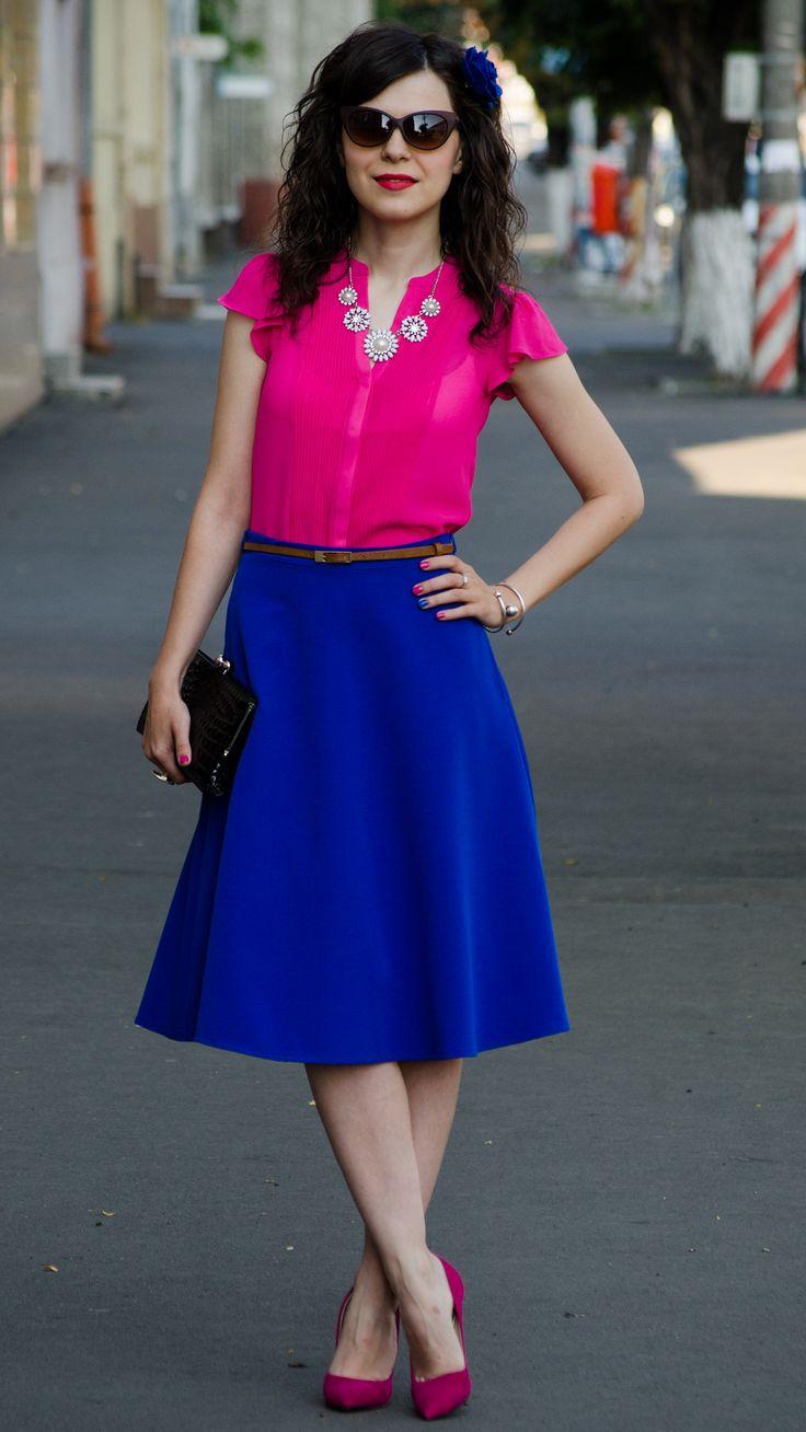 25  best ideas about cobalt blue skirts on pinterest