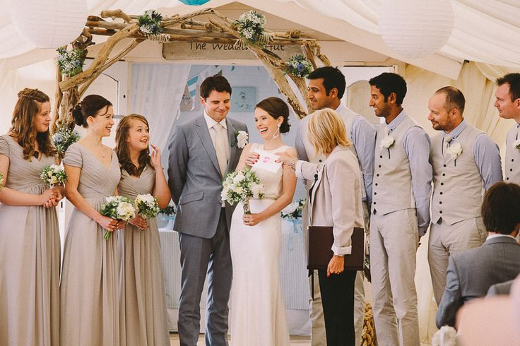 Beach Wedding Bournemouth by Kevin Belson Photography. http://kevinbelson.com  Tel: 07582 139900 or 01793 513800 or email: info@kevinbelson.com