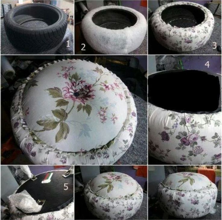 25 Creative Ideas To Reuse Old Tires  - I would do this for my backyard using a weather-proof fabric