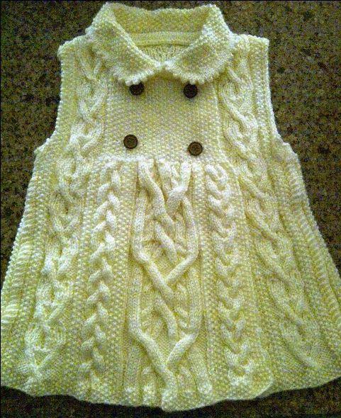 Elizabeth coat size 4T Aran style from KP
