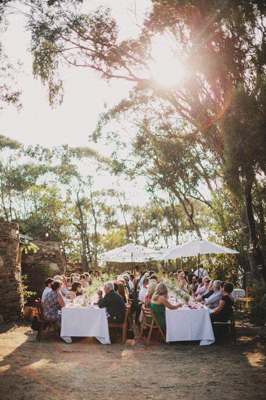 Love to gather the family along these tables - indie backyard australian wedding from lakshal perera