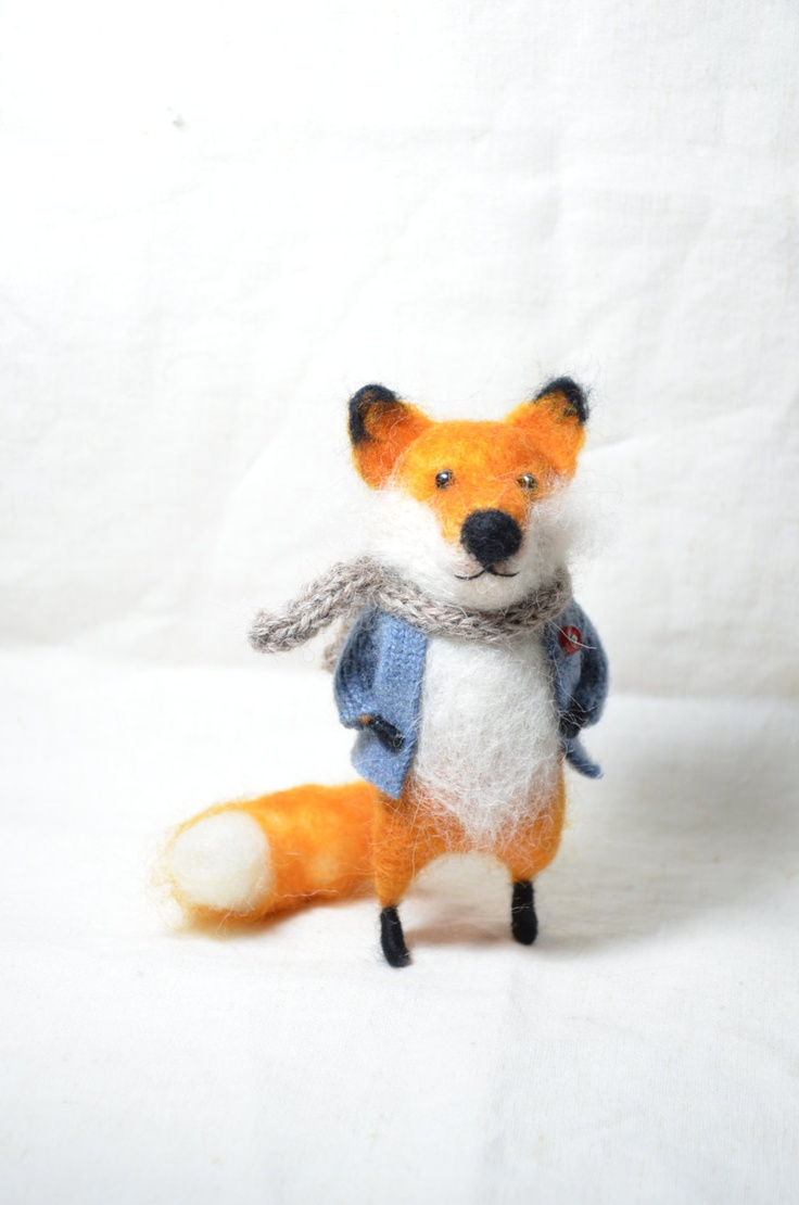 Red Foxy - Needle felted ornament animal. $78.00, via Etsy.