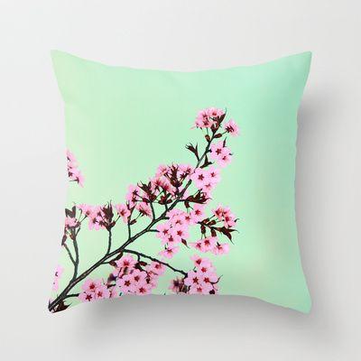 GREEN HONEY Throw Pillow by SUNLIGHT STUDIOS  Monika Strigel - $20.00