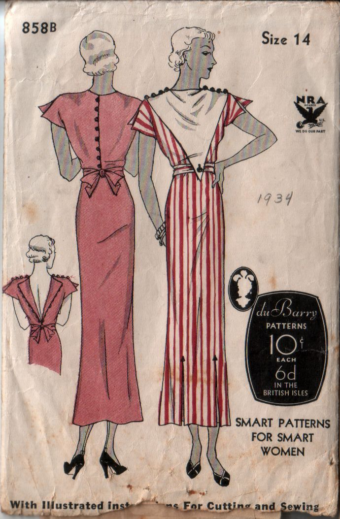 DuBarry 858B | Vintage Sewing Patterns | Fandom powered by Wikia
