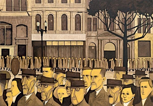 One of my favorite Australian artists, John Brack.  Great representation of industrialized Melbourne.