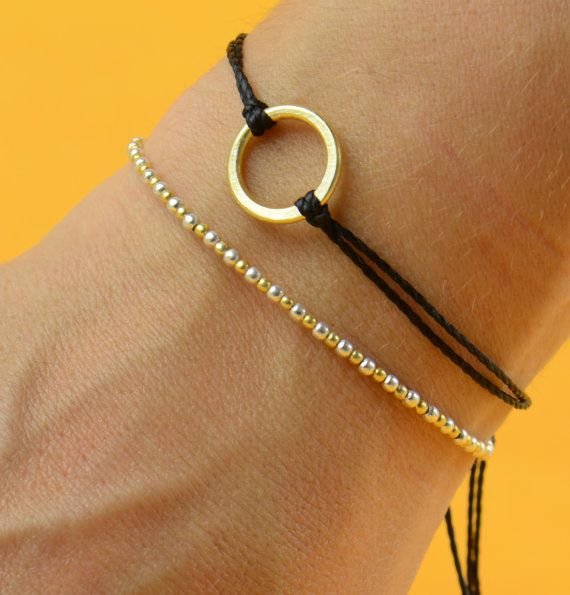 Hey, I found this really awesome Etsy listing at https://www.etsy.com/listing/77241021/gold-and-silver-bracelet-black