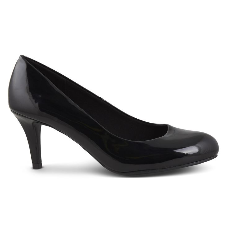 Womens Karmen Black Patent Heel By Comfort Plus | Payless Shoes Australia
