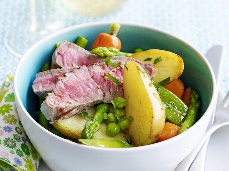 Warme salade met primeurtjes - Libelle Lekker