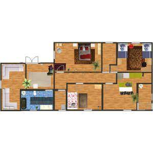 первый  в Кухня, Семейная комната, Спальня, Гостиная, Ванная комната, Офис