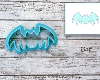 Pipistrello Cookie Cutter / taglierina del biscotto di Halloween / Cookie Cutter / cutter fondente di Bat