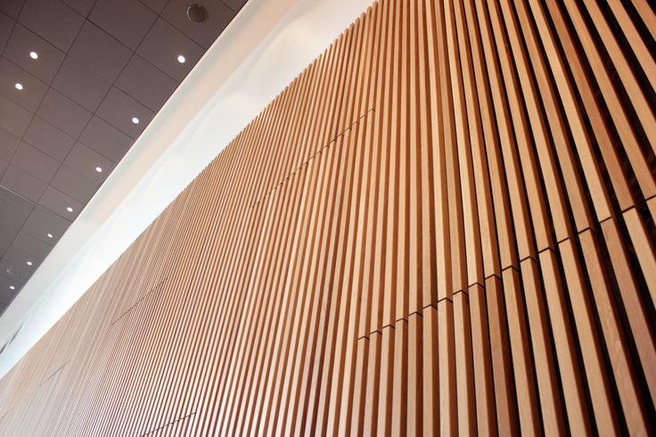 Oak wood in hotel interior. Made by Parkanon Listatehdas / Finland. #morewood
