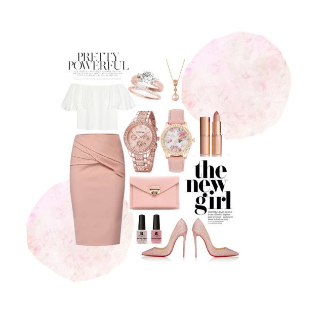"""""""nude"""" by babsi666 on Polyvore featuring Valentino, WtR, Christian Louboutin, LE VIAN and Victoria's Secret"""