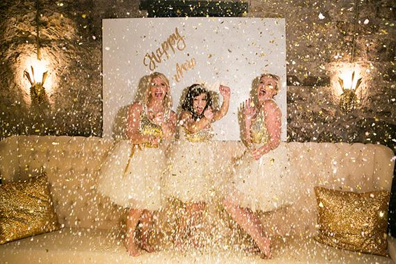 Gold glitz New Years Party inspiration | Photo by Scott Clark Photo | Read more -  http://www.100layercake.com/blog/?p=65987