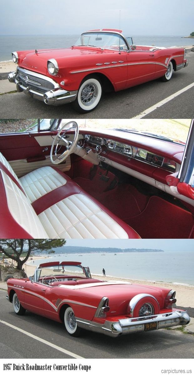 1957 Buick Roadmaster Convertible..Just missed a nice builder in 1997..$ 5,000 Then.  Factory Red With Black Top & Interior..