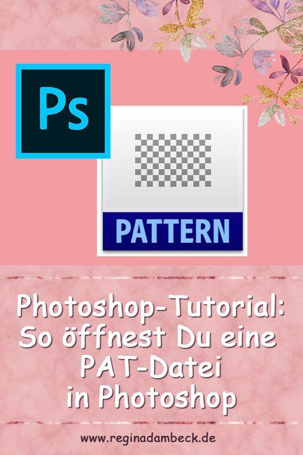 Pat Datei In Photoshop Einfugen Photoshop Musterdesign Shops