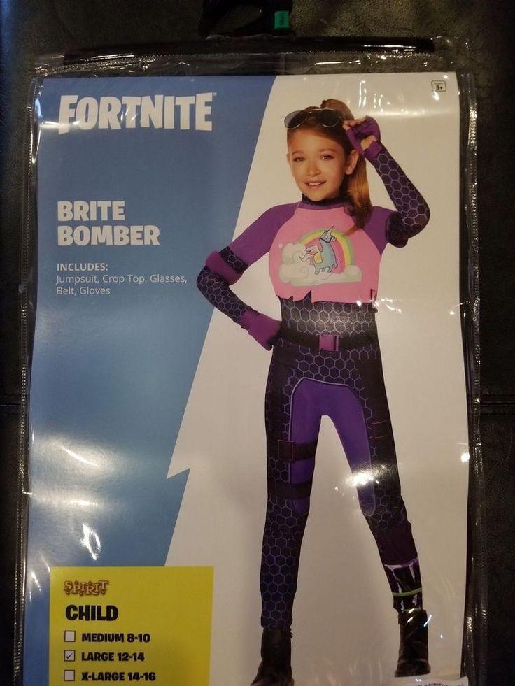 Halloween Costumes Dress-up Kids/' Fortnite Brite Bomber Costume Large 10-12