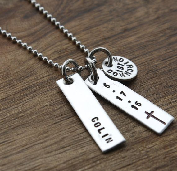 Personalized Boys First Communion Necklace For Boy First Communion Necklace First Communion Gift Communion Gift Cross Religious Necklace | First Communion ...