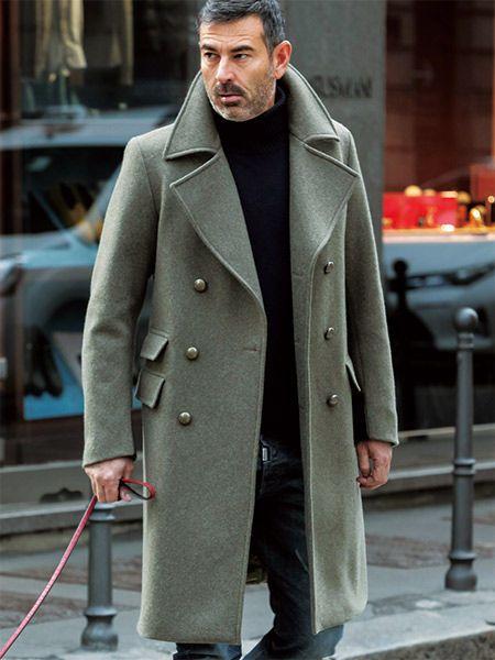 c75110ad69df2 ロングPコートは、襟立て&ブーツイン等の小技でこなす!