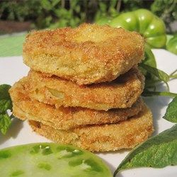 Best Fried Green Tomatoes - Allrecipes.com (I actually made these with green heirloom tomatoes, and they were perfect in every way!)