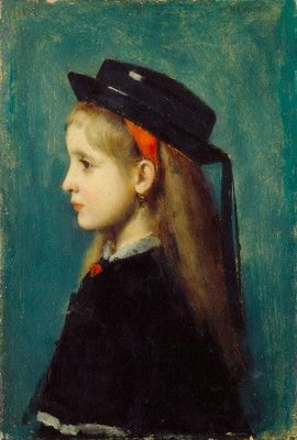 Henner, Jean-Jacques  French, 1829 - 1905  Alsatian Girl  1873