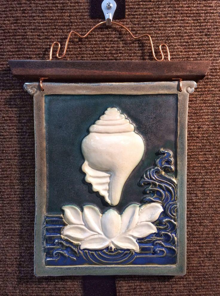 Ceramic wall plaque by Lobsang Gyatso, Key to Tibet
