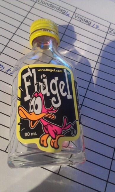 Logo en naam van een flesje