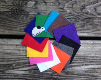 Color Match Game Learning Colors Felt Toys by AnnsCraftHouse